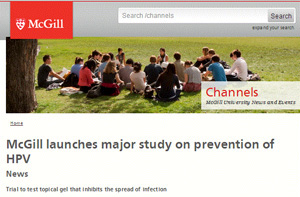 McGill University's Human Clinical Study on HPV Prevention using Divine 9 Lubricants